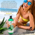 Art Naturals Aloe Vera Gel 12 oz.; 100% Pure and Natural Organic Cold Pressed Aloe; Gel for Face, Hair & Body; For Sun Burn, Insect Bites, Minor Wounds and Eczema