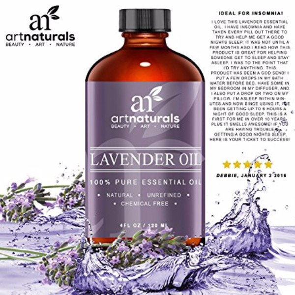 Art Naturals Lavender Oil - 100% Pure and Natural Oil, Use in Aromatherapy, Great for Massage; Reduce Stress