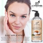 Art Naturals Fractionated Coconut Oil; Best Carrier Oil; 100% Pure and Natural; Treats Damaged Hair