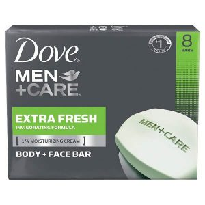 Dove Men+Care Extra Fresh Body and Face Bar, 8 Bars at 4 oz. each