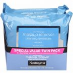 Neutrogena Makeup Removing Wipes Twin Pack Feel Clean and Fresh; Remove 99.3% of Makeup; Remove Waterproof Mascara; Use on the Go.