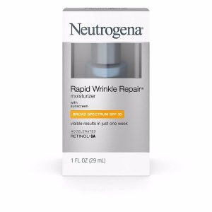 Neutrogena Rapid Wrinkle Repair Moisturizer minimizes appearance of wrinkles; Built-in Sunscreen SPF 30; Contains Retinol SA