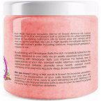 Pure Body Naturals Body Scrub with Himalayan Salt; Cleans and Exfoliates Skin; Contains Sweet Almond and Lychee Oil; Softens Skin; Promotes Skin Cell Renewal