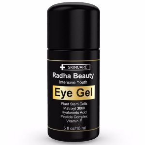 Radha Beauty Intensive Youth Eye Gel; No More Eyebags and Dark Circles Under the Eyes; Smooth Skin Around the Eyes