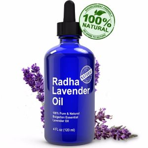 Radha Beauty Lavender Essential; Used to Calm Anxiety; Great for Aromatherapy; 100% Pure & Natural Therapeutic Grade