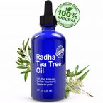 Radha Beauty Tea Tree Essential Oil for Treatment of Acne; Therapeutic Grade 100% Pure and Natural