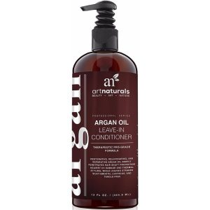 Art Naturals Organic Argan Oil Leave-In Conditioner; Restores Hair Volume and Softness; Nourishes Hair for Deep-Conditioning; Repairs Hair Damage