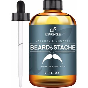rt Naturals Organic Beard Oil and Leave-In Conditioner; Pure & Natural Formula; Unscented Oil to Condition Facial Hair; Hydrates and Controls