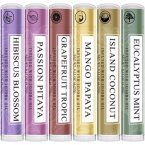 Art Naturals Natural Lip Balm Beeswax; Pack of 6 Assorted Flavors; Repairs Dry and Cracked Lips; Soothing Lip Therapy with Essential Oils