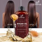 Art Naturals Organic Daily Argan Oil Shampoo; Anti-Aging Formula for Lustrous Hair; Suitable for All Hair Types and Colors; Potent in Moisturizing and Increasing Volume for Locks