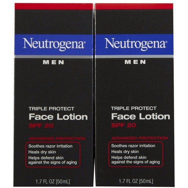 Neutrogena Triple Protect Face Lotion; With Sunscreen SPF 20; Comes in a Pack of Two 1.7 oz; Advanced Protection from Skin Aging