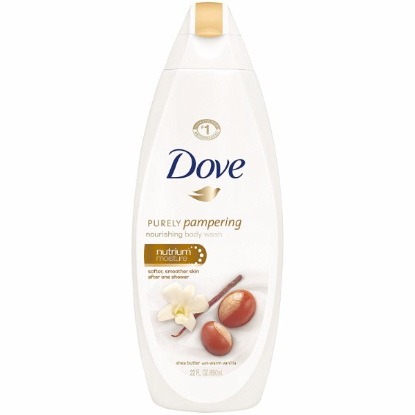 Dove Purely Pampering Body Wash; With NutriumMoisture Formula; Infused with Shea Butter for Skin-Deep Moisture; Soothing Scent of Warm Vanilla