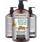 First Botany Cosmeceuticals Moroccan Argan Oil Shampoo; Gentle Formula that Restores Hair Luster; Hydrating and Revitalizing for All Hair Types