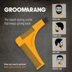 Groomarang Beard Shaper Comb Template Tool; Style Beards and Mustaches to Perfection; Innovative Design for Effortless Grooming