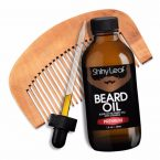 Shiny Leaf Beard Oil Set; Premium Beard Oil with Durable Comb; Ideal for Grooming Beard and Mustache; Prevents Skin Irritation