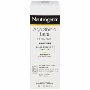 Neutrogena - Age Shield Face Oil-Free Lotion; With Broad Spectrum SPF 100; Defense against Sun Damage and Skin Aging