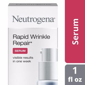 Neutrogena Rapid Wrinkle Repair Serum; Instant Results of Skin Improvement; Rejuvenates and Brightens Skin