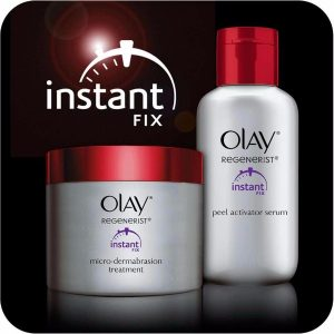 Olay Regenerist Treatment Kit; Microdermabrasion and Peel System Kit; Reduces Fine Lines and Wrinkles; Instant Fix Formula