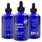 Radha Beauty Pure Lemon Essential Oil; Therapeutic Grade Quality Oil; Uplifting Citrusy Scent; Natural Cleanser and Disinfectant