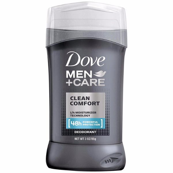 Dove Deodorant Stick Clean Comfort; With ¼ Moisturizing Cream for Smooth Underarms; Leaves a Refreshing Feeling