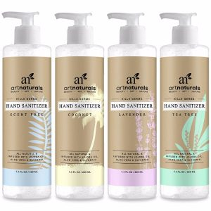 Art Naturals Hand Sanitizer 4 Pack; Gentle Hand Cleansing; With Unique Appealing Scents; Purely Natural Formula