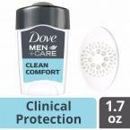 Dove Antiperspirant Deodorant Clean Comfort; Protection that Lasts Up to 48 Hours; With ¼ Moisturizing Technologys
