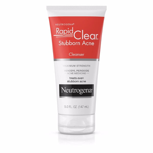 Neutrogena Stubborn Acne Cleanser; Fades Acne with Just One Use; Leaves Skin Smoother and Clearer