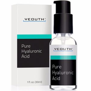 Yeouth Hyaluronic Acid Serum for Face; Highly Hydrating for Any Skin Type; Firms Up the Skin for Longer-Lasting Youth