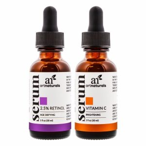 Art Naturals Vitamin C Serum Vitamin A Retinol Serum; Anti-Aging Night Therapy; Fades Signs of Aging