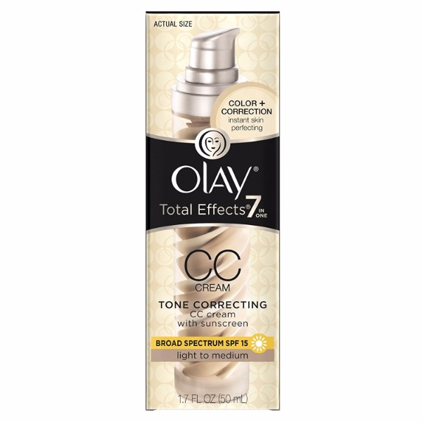 Olay Total Effects Tone Correcting Moisturizer with Sunscreen; Protects Skin Against 7 Signs of Aging and Sun Damages
