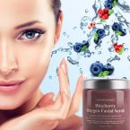 Pure Body Naturals Blueberry Oxygen Facial Scrub; Hydrates the Skin Deeply; With Jojoba Beads for Gentle Exfoliation