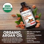 Shiny Leaf Organic Argan Oil; Anti-Aging Powers for A Youthful Skin; For Soft and Silky Hair