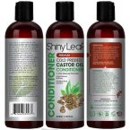 Shiny Leaf Castor Oil Conditioner; For Added Volume and Shine; Moisture-Rich Solution