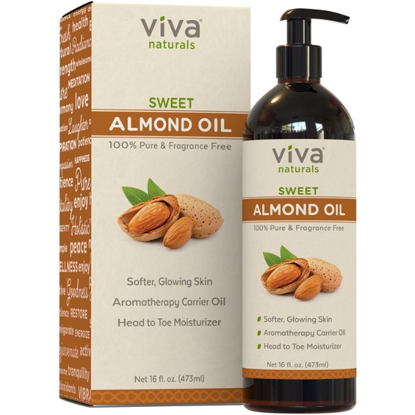Viva Naturals Sweet Almond Oil; For Healthier and Softer Skin; Leaves Hair Soft and Smooth