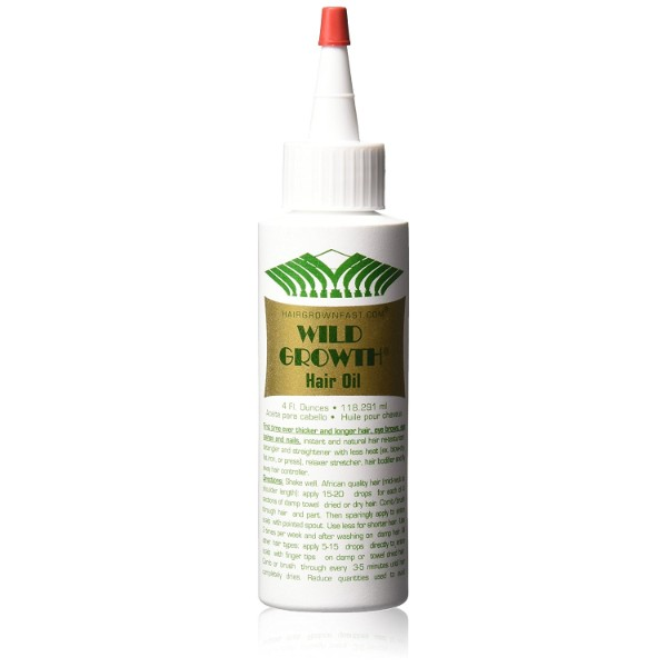 Wild Growth Hair Oil; Detangles Hair for Smooth Texture; Promotes Growth of Hair, Lashes, and Brows