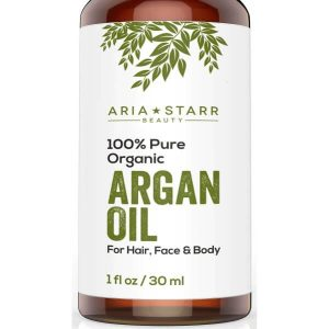 Aria Starr Beauty Organic Argan Oil; Prevents Skin Aging; Moisturizes Hair and Beard