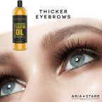 Aria Starr Cold-Pressed Castor Oil; For Softer Skin and Stronger Hair; Promotes Healthy Growth of Eyelashes and Brows