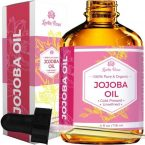 Leven Rose Pure Cold-Pressed Natural Jojoba Oil; Moisturizes Skin, Hair, & Nails; Soothes Dry Lips