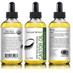 Natural Riches Pure Organic Cold-Pressed Castor Oil; For Thick Eyebrows and Long Lashes; Comes with Applicators and Mascara Wands