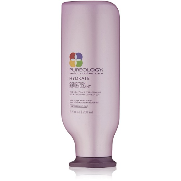 Pureology Hydrate Shampoo; Sulfate-Free Formula; Refreshing Scent for Moisturized Hair