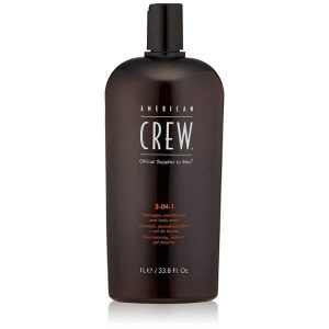 American Crew Classic 3-in-1 Shampoo Plus Conditioner; Cleanses Skin Gently; Revitalizes Hair