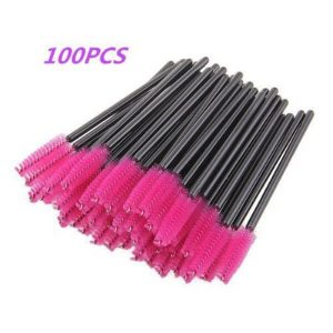 G2Plus 100 Pack Disposable Eyelash Mascara Brushes Wands; Eyelash Applicator; Flexible Brush Heads