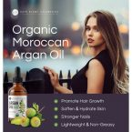 Kate Blanc Cosmetics Moroccan Argan Oil; For Softer Hair and Smoother Skin; Strengthens Nails
