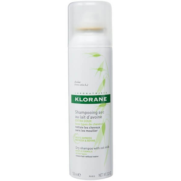 Klorane Dry Shampoo with Oat Milk; Gives Hair Extra Volume; Improves Hair Shine and Texture