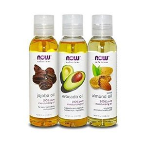 NOW Foods Variety Moisturizing Oils Sampler; Nourishing Oils for Skin and Hair; Includes Jojoba Oil, Avocado Oil, and Almond Oil