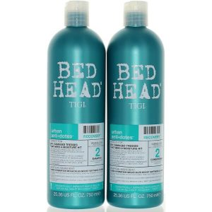 TIGI Bed Head Urban Anti-dote Recovery Shampoo and Conditioner Duo; Protects Color-Treated Hair from Fading; Leaves Hair Smooth and Shiny