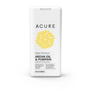 Acure Mega Moisture Argan Oil and Pumpkin Shampoo; Color-Safe Formula for All Hair Types; Hydrating Shampoo for Dry and Damaged Hair