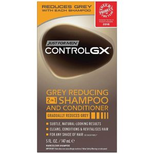 Just for Men Control GX 2-in-1 Shampoo and Conditioner; Revitalizes Hair; Reduces Grey Hair Color