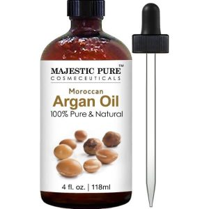 Majestic Pure Moroccan Argan Oil; For Hair, Beard, Face, Nails, & Cuticles; 100% Pure and Natural