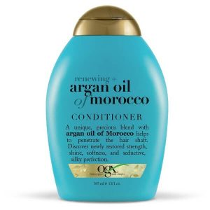 OGX Renewing Argan Oil of Morocco Conditioner; Leaves Hair Softer and Smoother; Prevents Hair Damage
